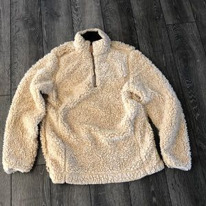 Fluffy pullover jacket. Super soft and warm! Sz S